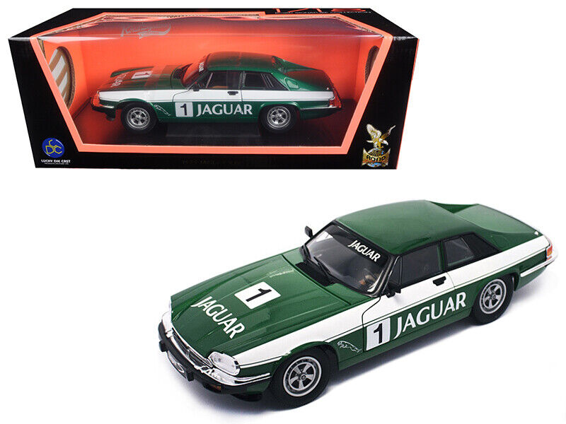1975 Jaguar XJS Coupe Racing Grün 1 1 18 Diecast Model Car by Road Signature