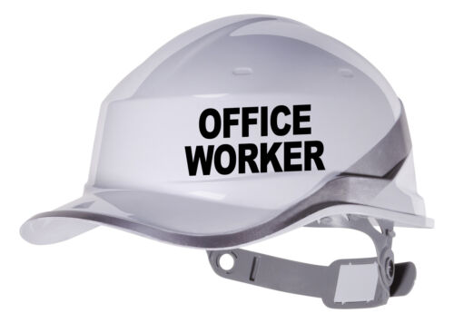 couleur personnalisée /& font 2x d/'employé de bureau dur Autocollant Vinyle hat Transfert Autocollant