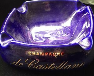 "DE CASTELLANE CHAMPAGNE ASHTRAY CERAMIC GOOD CON USED 8"" DIAMETER eOVhRE0q-09085413-239249342"