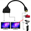 thumbnail 1 - HDMI Port Male to Female 1 Input 2 Output Splitter Cable Adapter Converter 1080P