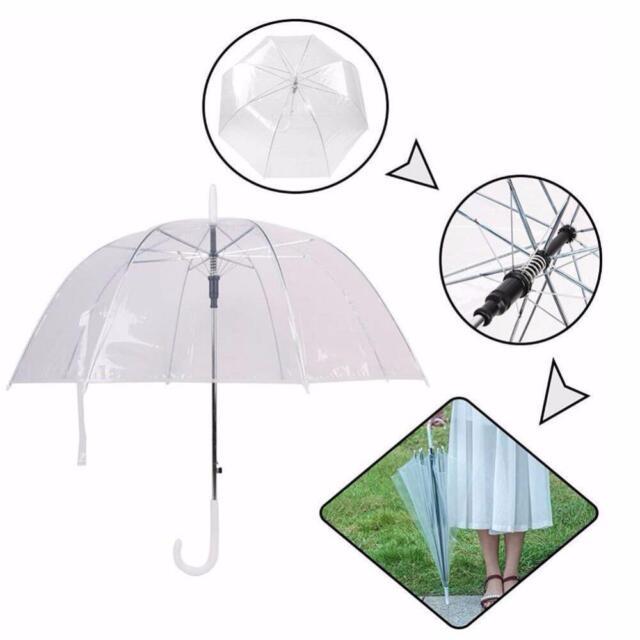 Unique Art  London Building Dome Bubble Clear Rain Umbrella Transparent Folding