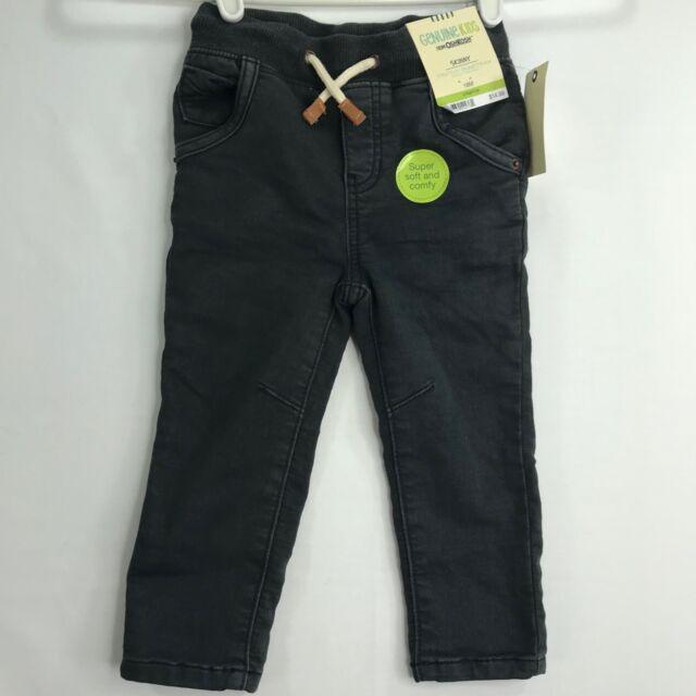 013841563 OshKosh Genuine Kids Toddler Boys 2T Skinny Pants Charcoal Gray Soft  Stretchy