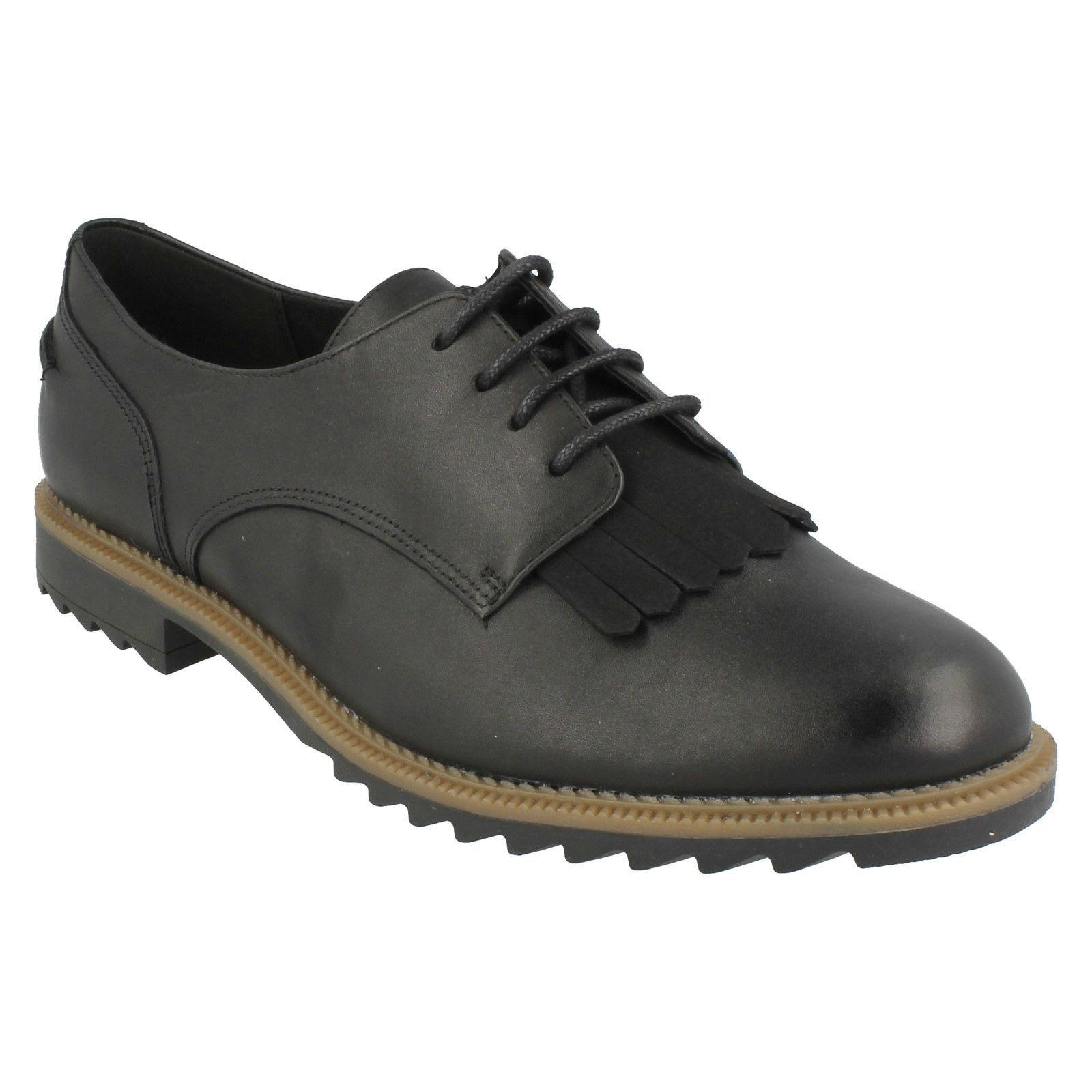 Greifen Mabel Damen Clarks Fransen Leder Velours Brogue Schnürbar Fransen Clarks Smart Schuhe 76a6c8