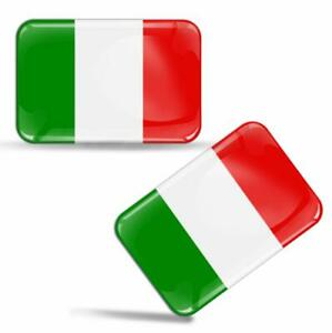 Autocollants-3D-Resine-Italie-Drapeau-Italien-Flag-Italy-Italian-Stickers-Decals