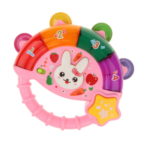 Portable Electric Tambourine Musical Educational Toy for Kids Boys and Girls