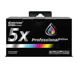 5x Eurotone Pro Ink For Epson Stylus C-64-Photo CX-3500 C-85 C-84-Wifi