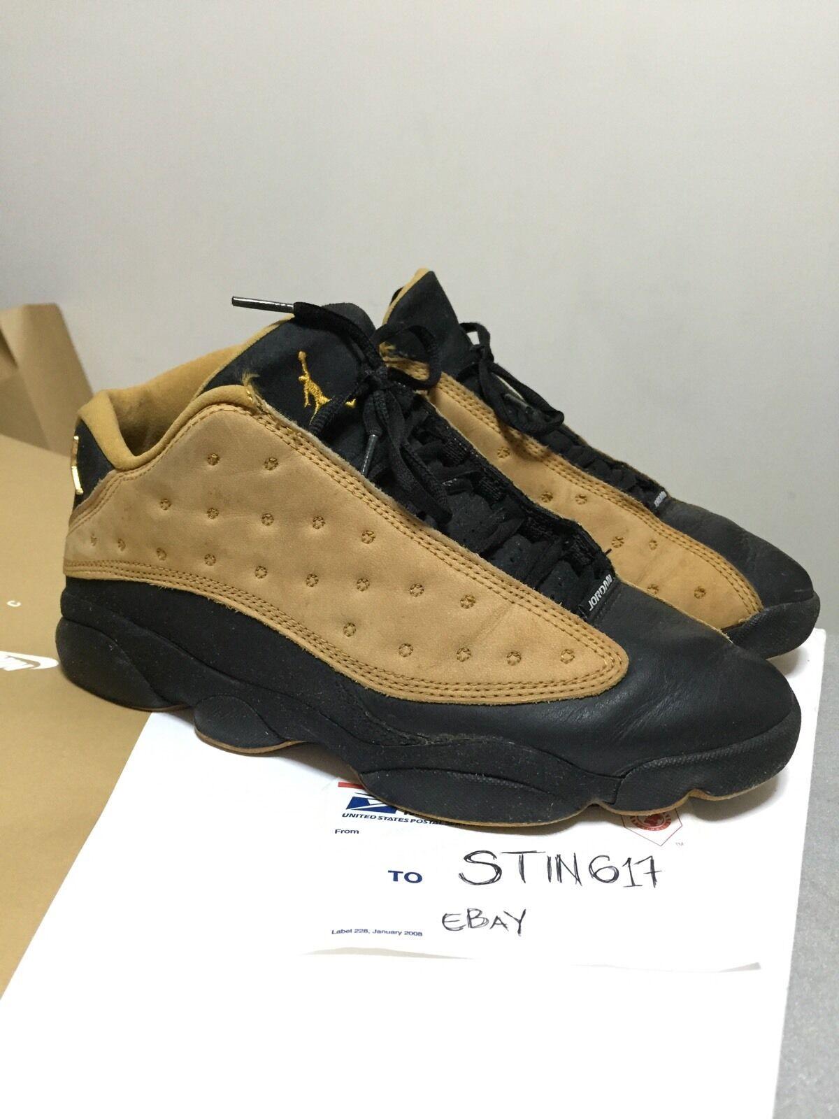 1998 OG Nike Air Jordan 13 XIII Low Black Chutney 8.5 he got game flint xi vi i Special limited time
