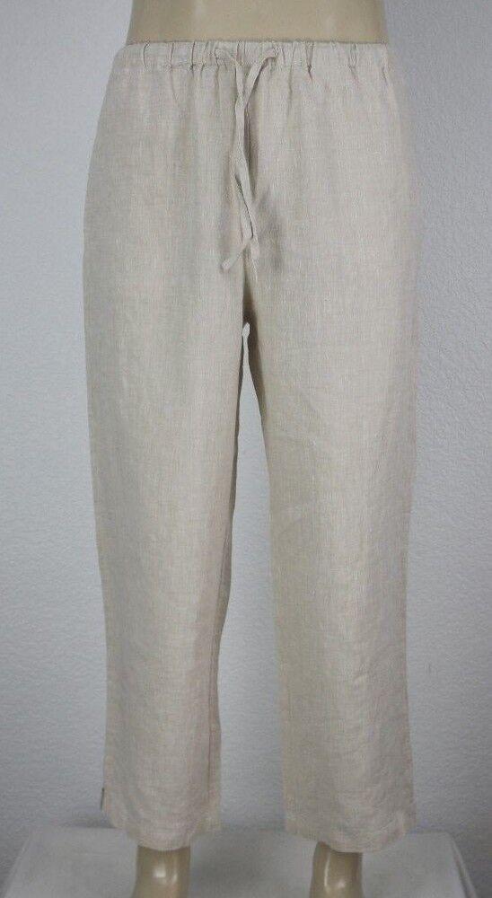 NEW Orvis Women's Shoreline Linen Cropped Pant Size M (10 12)