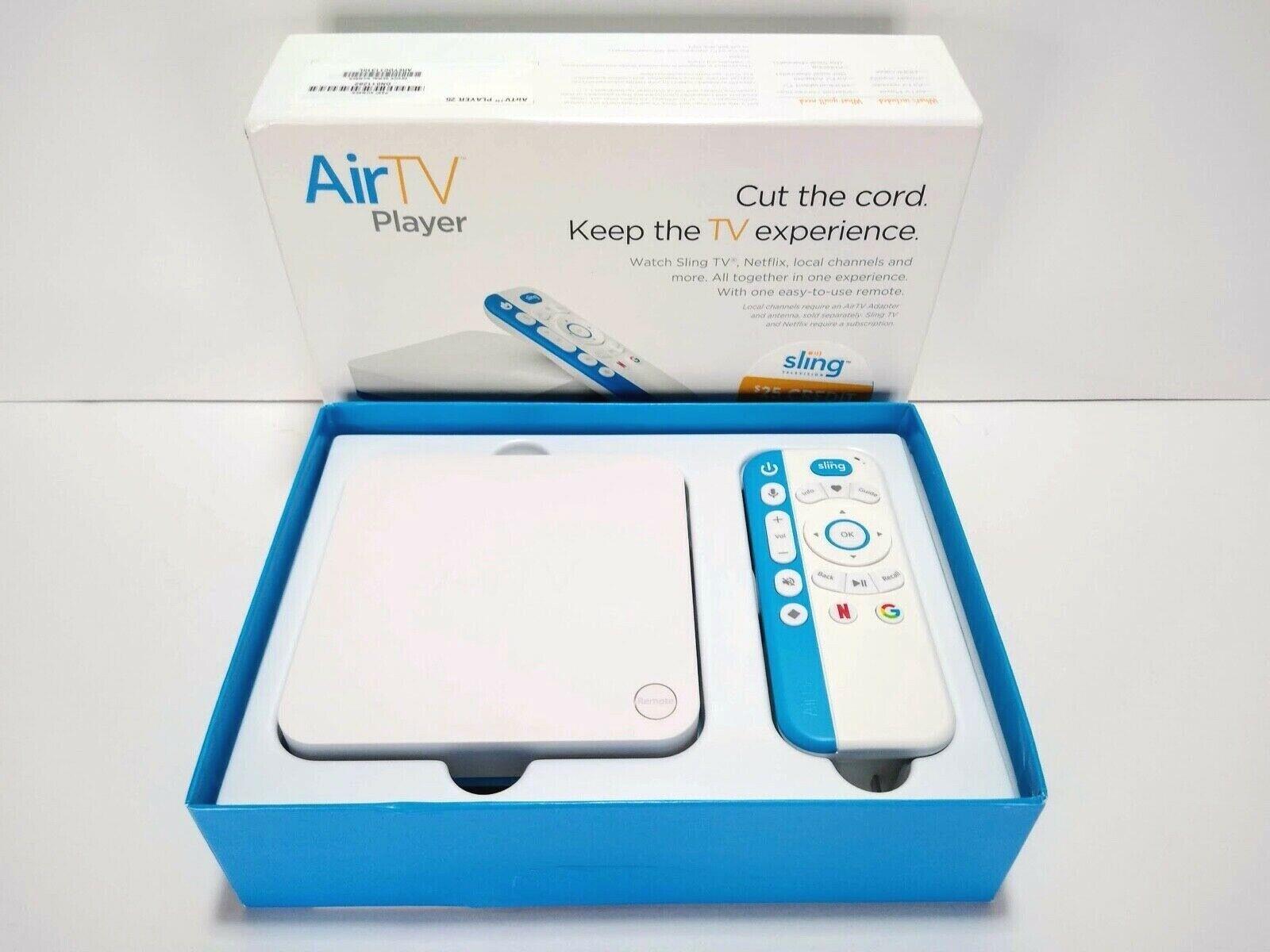 AirTV UIW4010ECH 8 GB 4K Streaming Media Player - White / Blue - New Open Box airtv blue box media new open player streaming uiw4010ech white