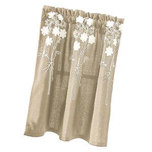 Dettagli su Tendine di tende da bistrot floreali per balcone cucina,  selezione