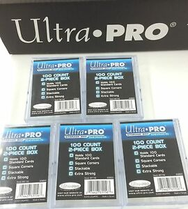 Ultra-Pro-100-Count-2-Piece-Clear-Storage-Box-x10-Best-for-100-Trading-card-Set