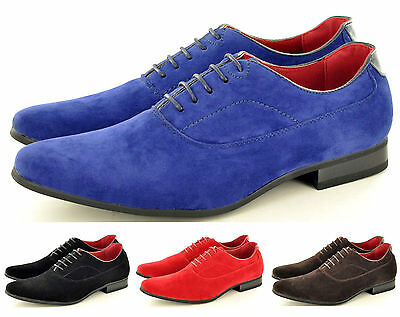 Aggressiv New Mens Casual Formal Lace Up Brogue Fashion Faux Suede Shoes In Uk Sizes 6-12