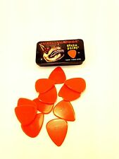 Snarling Dog Guitar Picks Tin  Brain Picks  12 Picks w/ Tin  1.14mm  Orange