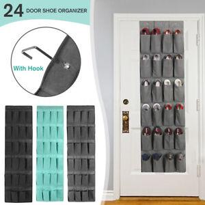 Over-the-Door-Shoe-Organizer-24-Pocket-Rack-Hanging-Storage-Space-Saver-Hanger