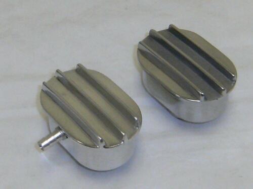 """Polished Aluminum Nostalgic Finned Breather /& PCV Combo 1/"""" Valve cover Hole"""