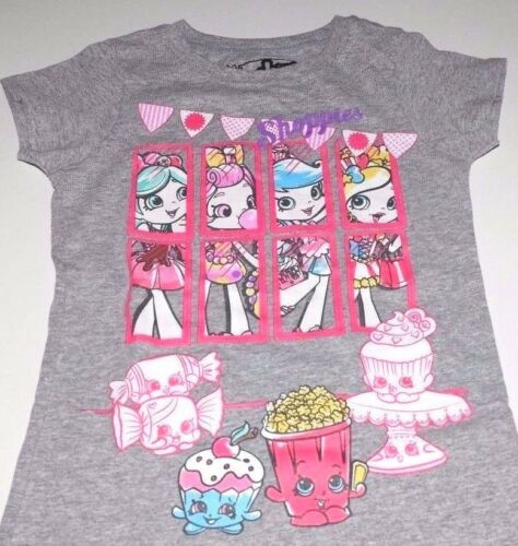 New Shoppies Shopkins shirt girls size 4//5 6//6X 7//8 10//12 14//16 Shoppies
