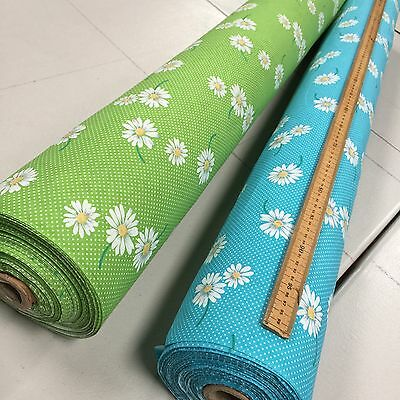 100% Cotton Fabric Tiny Spots n Dots & Floating Daisies 114cm Wide Per Metre
