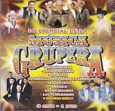 Musica Grupera LO Esencial Ramon Ayala,Bronco,Los Temerarios,Sergio Vega 3CD+DVD