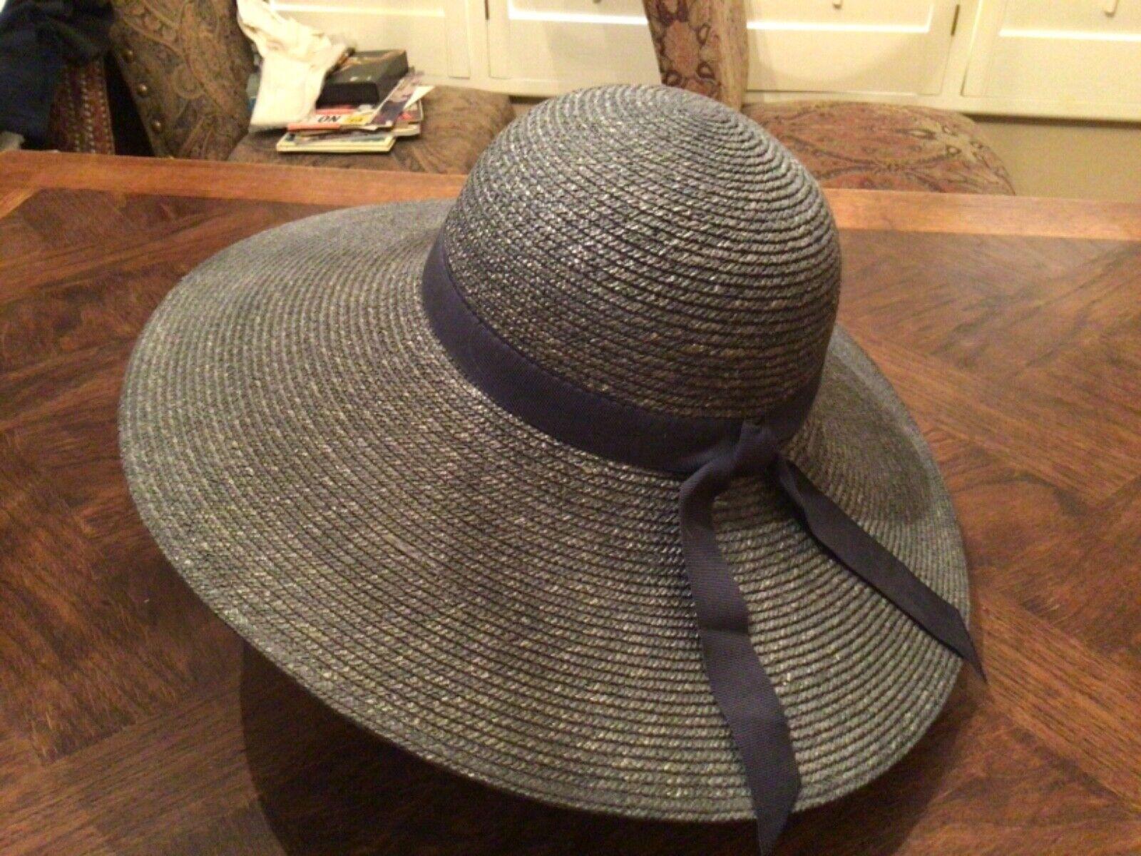 VINTAGE WIDE BRIM ITALIAN STRAW HAT - image 1