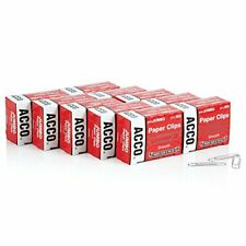 Acco Paper Clips Jumbo Smooth Economy 10 Boxes 100box 72580silver