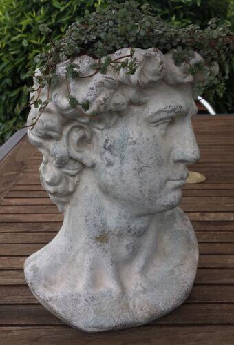 Männerkopf Pflanzschale Büste Mann Pflanzbüste Pflanzkopf Schale Pflanzgefäß kl.