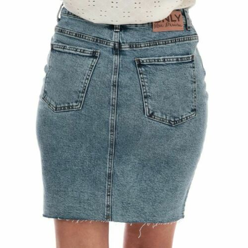 Women/'s Only Emily High Waist Denim Skirt in Blue