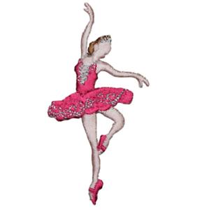 "Iron on Ballerina Applique Patch Ballet Dancer Badge 2-7//8/"""
