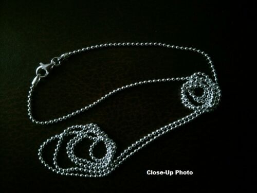 1.5mm* - .925 Sterling Silver Bead Chain Necklace GX Made in Italy