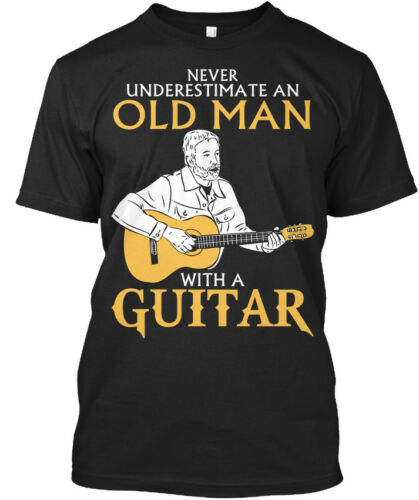 Fun Old Man With A Guitar Never Underestimate An Stylisches Stylisches T-Shirt