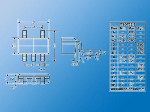 5x LED-BeleuchtungstreiberZXLD1350ET5TADiodes1MHzTSOT-23-5