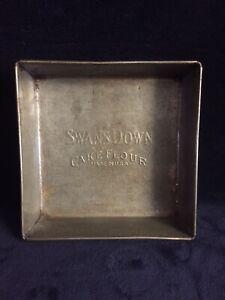 Antique-1930-s-Swans-Down-Cake-Flour-8-x-8-Baking-Pan