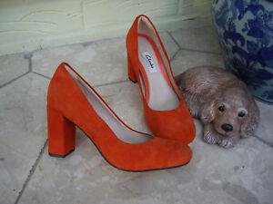 d831dc80 Details about CLARKS GABRIEL MIST BURNT ORANGE SUEDE SHOES CLARKS GRENADINE  SUEDE HEELS | 3