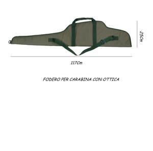 fodero imbottito carabina 117cm con ottica sacca custodia caccia cal 22 1121844
