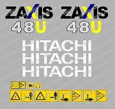 HITACHI ZAXIS 48U MINI BAGGER-AUFKLEBER-AUFKLEBER-SATZ