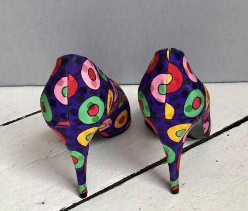 stuart a multicolore da vintage anni in Scarpe Weitzman pois seta polpaccio 80 vintage WUBTqSwfS