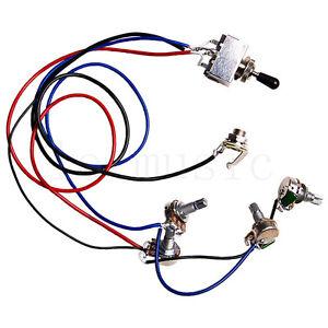 guitar wiring harness kit 2v2t 3 way toggle switch for. Black Bedroom Furniture Sets. Home Design Ideas