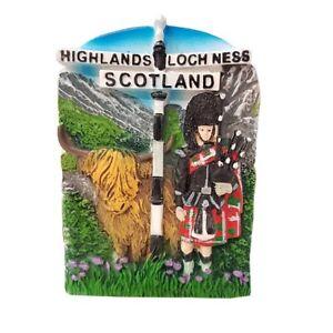 Scotland-Fridge-Magnet-Highland-Cow-Loch-Ness-Scottish-Thistle-Souvenir-Gift