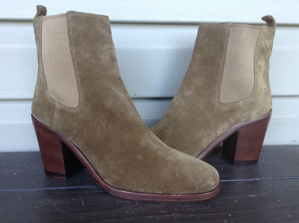 VINCE CAMUTO SIGNATURE SARLA SUEDE HEEL ANKLE BOOTS BOOTIES BROWN 8.5 NEW  375