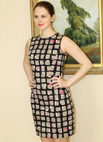 Geometrische Taupeabstract 4 Sweets vierkanten Kate New YorkDella Dress Spade Maat 5AR3j4L