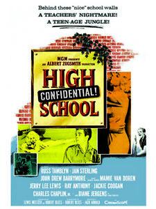 Fifties - High School Confidential movie Poster reprint (1958)