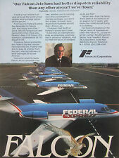 11/1980 PUB FALCON JET DASSAULT FALCON 20 FEDERAL EXPRESS FRED SMITH FREIGHT AD