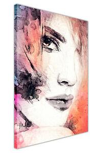 7d6d17debb5 water colour reprint abstract art woman face canvas prints wall art ...