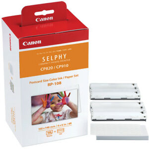 Genuine-CANON-Photo-Printer-Ink-amp-Paper-Set-RP-108-for-SELPHY-CP1200-CP910-CP820