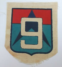 original vietnam american war vintage 9th  division printed cloth patch