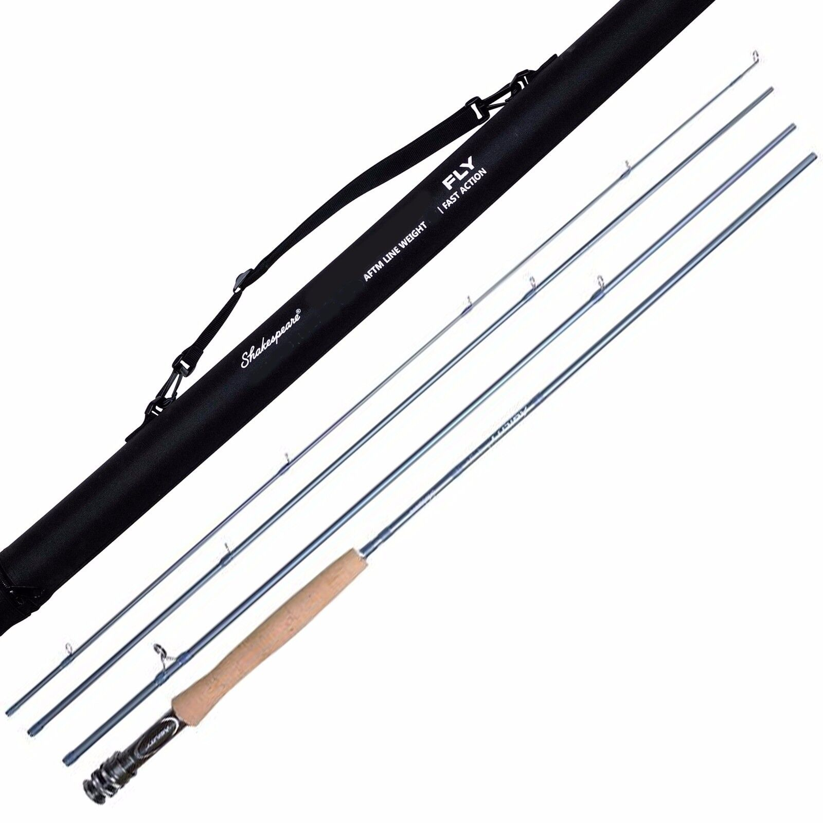 Shakespeare Agility 2 Carbon Fibre Four Piece Trout Fly Fishing Rods