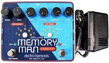 Used Electro-Harmonix Deluxe Memory Man 1100TT Tap Tempo 1100 ms Delay Pedal! TT