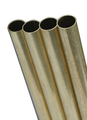 Dia x 12 in K/&S  17//32 in L Round  Brass Tube  1 pk