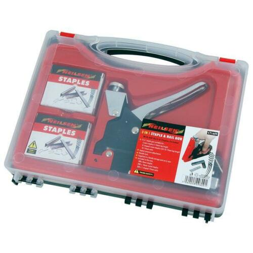 3 in 1 Stapler Nailer with 200 Staples 200 nails and 200 U Staple plus Case