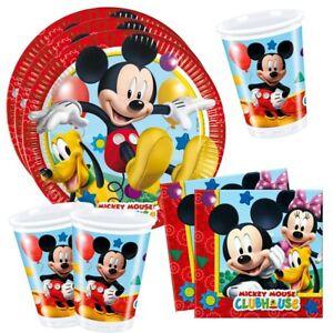 Set Stoviglie Monouso   Disney Mickey Mouse   Piatti, Bicchieri, Tovaglioli