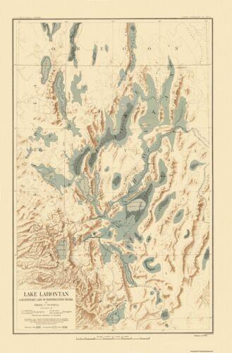 Bien 1892-23 x 34.94 Lake Lahontan Nevada California